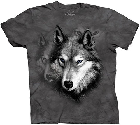 The Mountain T-Shirt - Wolf Portrait (Adult Unisex)