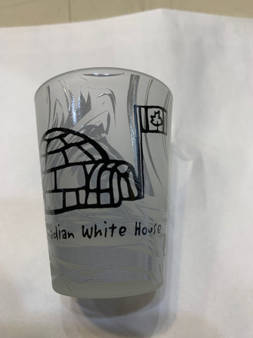 Canadian White House  Frosted Shot Glass Souvenir