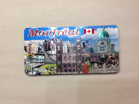 Montreal Olympic Stadium & Notre Dame church Fridge Magnet