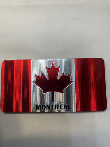 Canada  Flag with Montreal print Fridge Magnet