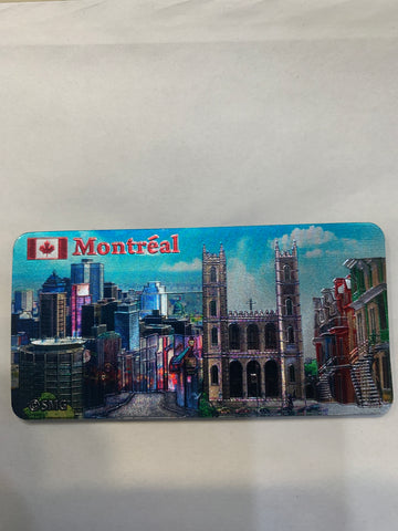 Downtown Montreal and old Montreal Fridge Magnet
