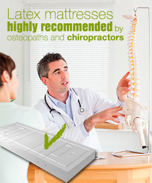 Latex mattress recommended by chiropractor