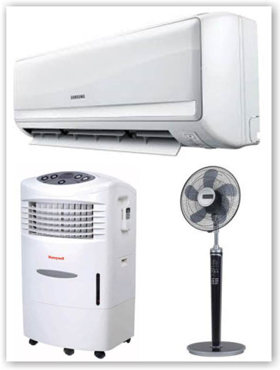 Use air conditioner, fan or air cooler to enjoy a cool night's sleep