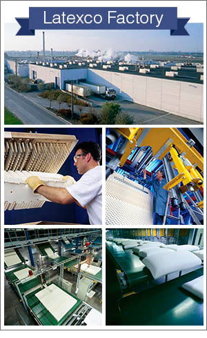Latexco factory and production