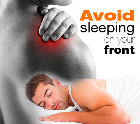 Shoulder pain to avoid sleeping on the front