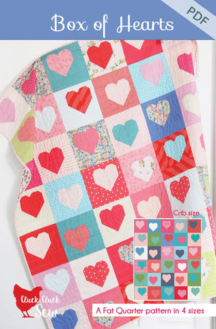 Box of Hearts Pattern #190, PDF Pattern