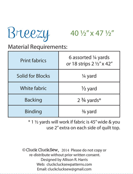 Breezy #148 Little, PDF Pattern