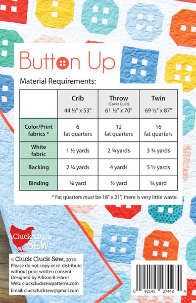 Button Up #142, PDF Pattern