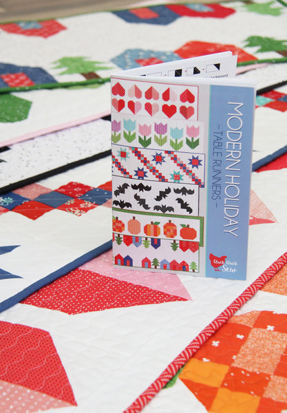 Modern Holiday Table Runners #186, Paper Pattern