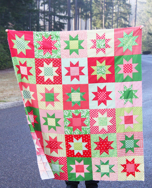 No Point Stars Quilt Pattern, FREE