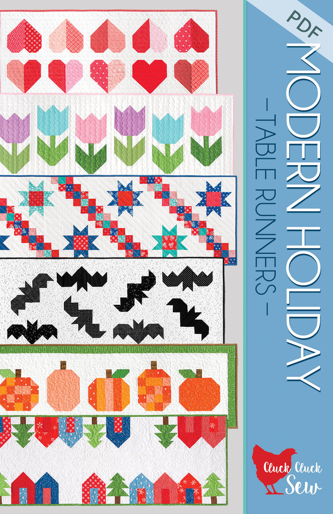 Modern Holiday Table Runners 186 Pdf Pattern Cluck Cluck Sew