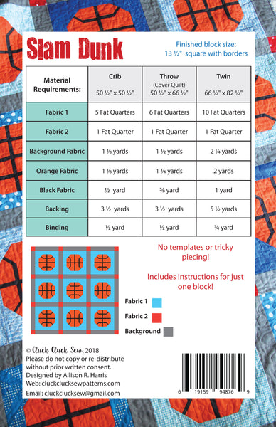 Slam Dunk #176 PDF Pattern