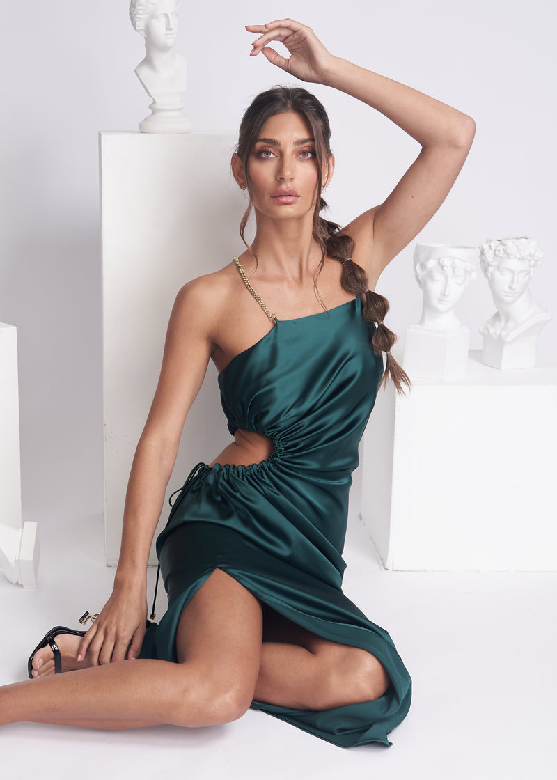 CLARINA DRESS - EMERALD