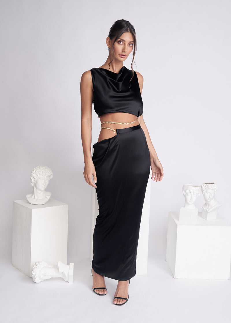 FLIORA SKIRT - BLACK