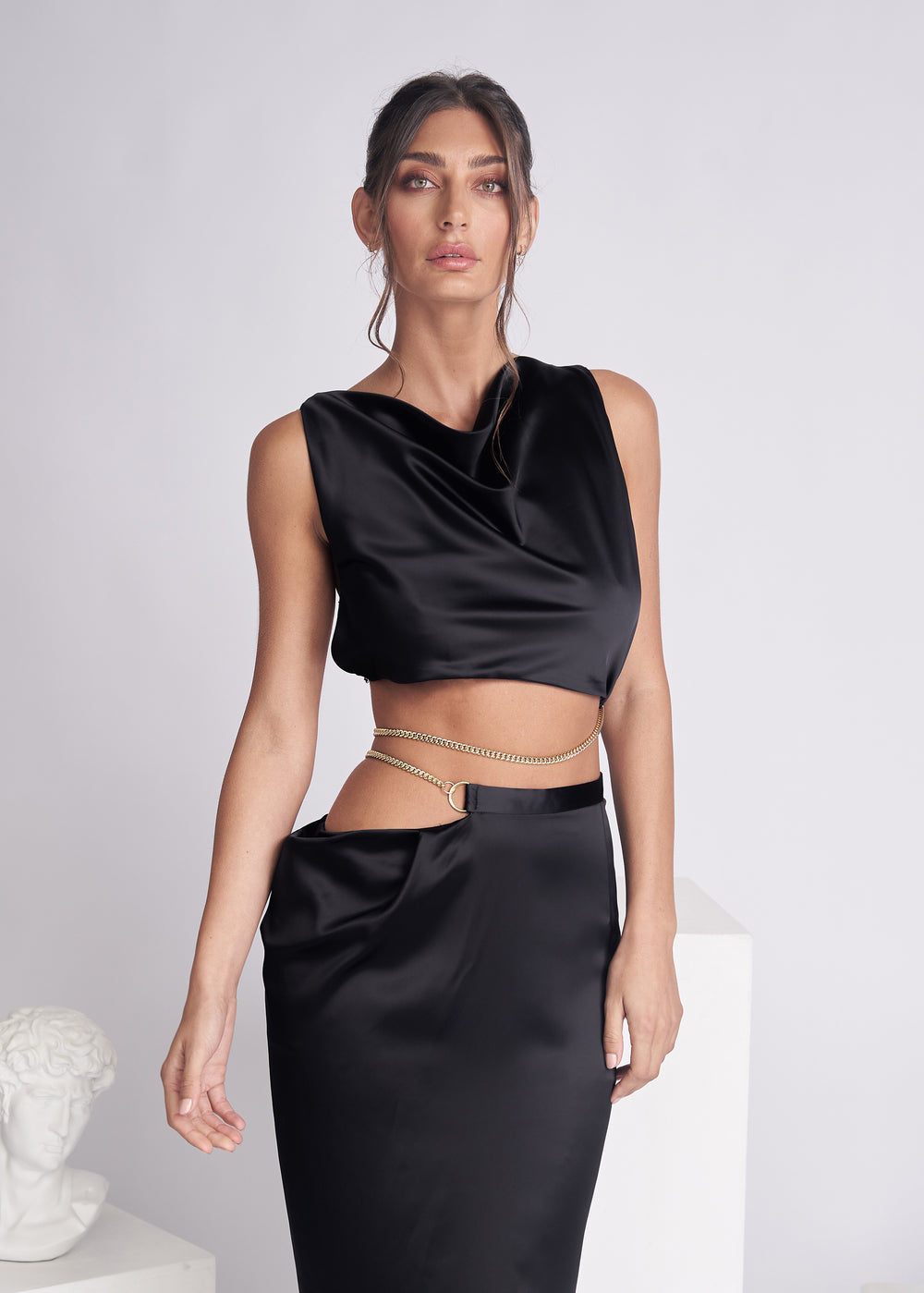 FLIORA TOP - BLACK