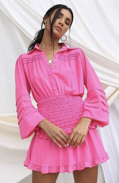 EMMIE DRESS - FUCHSIA