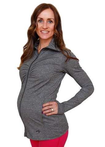 Ruching Remix Maternity Jacket - SALE