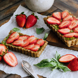 Live Fruitfully: Strawberry Basil Cheesecake with Avocado & Walnut Filling