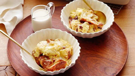 Panettone Bread Pudding with Amaretto Sauce