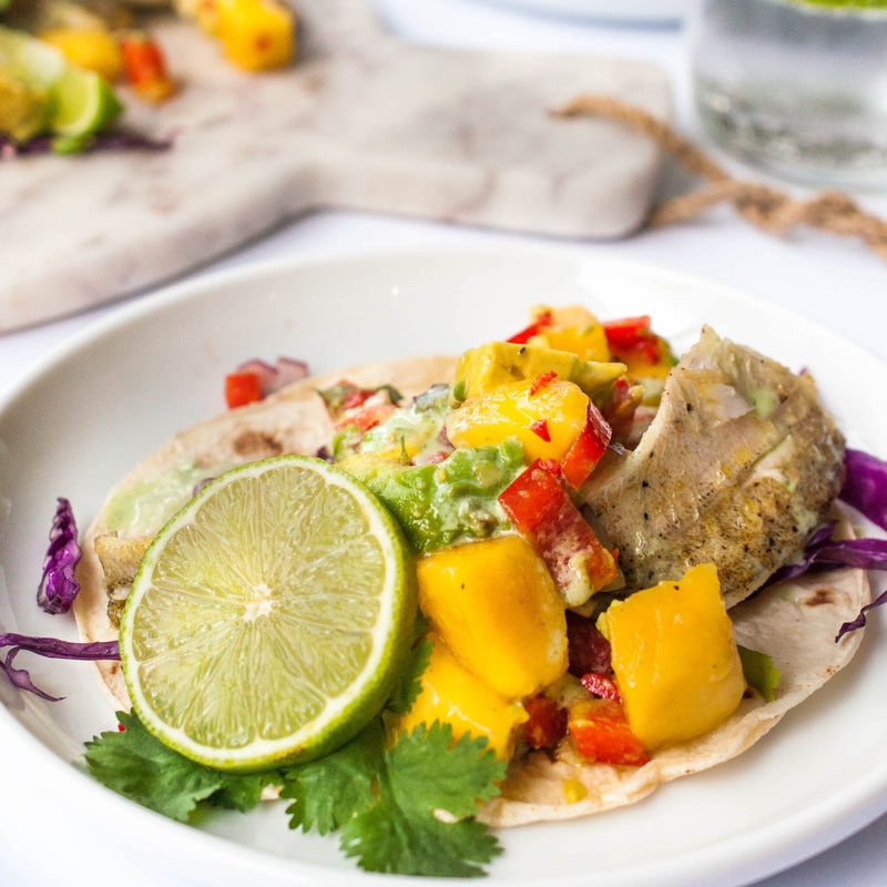 Carrotsticks & Cravings: Fish Tacos with Spicy Mango Salsa