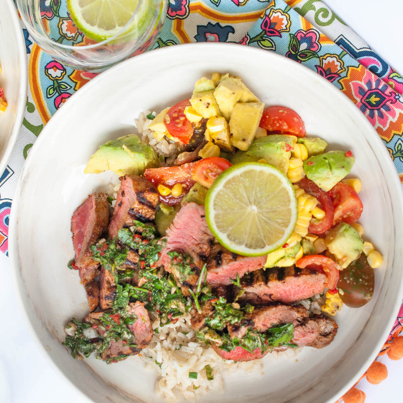 Carrotsticks & Cravings: Mexican Rice with Spiced Grilled Steak