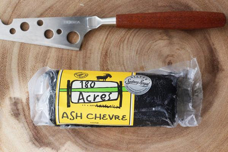 180 Acres Ash Chevre Log 200g* Dairy & Eggs > Cheese