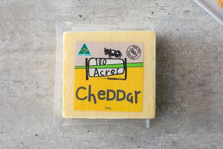 180 Acres Cheddar 200g* Dairy & Eggs > Cheese