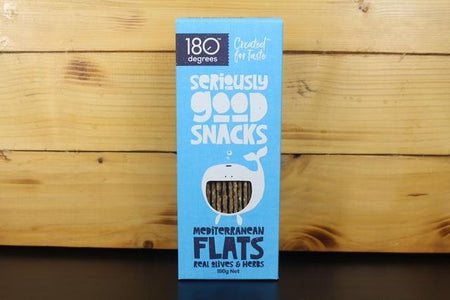 180 Degrees 180 Mediterranian Flats 180g Pantry > Biscuits, Crackers & Crispbreads