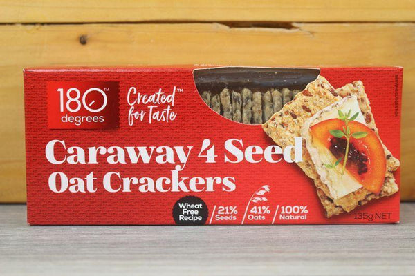 180 Degrees 4 Seed Caraway Oat Crackers Pantry > Crackers & Crispbreads
