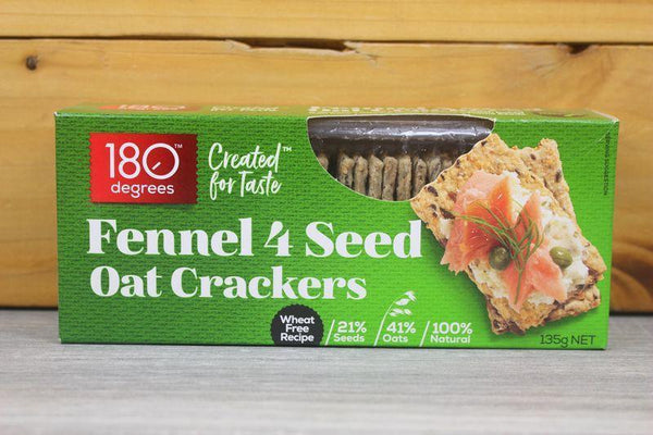 180 Degrees 4 Seed Fennel Oat Crackers Pantry > Biscuits, Crackers & Crispbreads