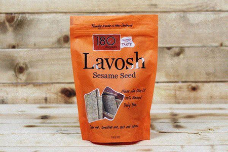 180 Degrees Black & White Sesame Seed Lavosh 150g Pantry > Biscuits, Crackers & Crispbreads