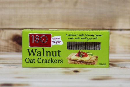 180 Degrees Walnut Oat Crackers 150g Pantry > Biscuits, Crackers & Crispbreads