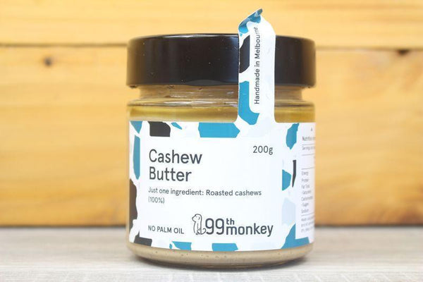 99th Monkey Cashew Butter 200g Pantry > Nut Butters, Honey & Jam