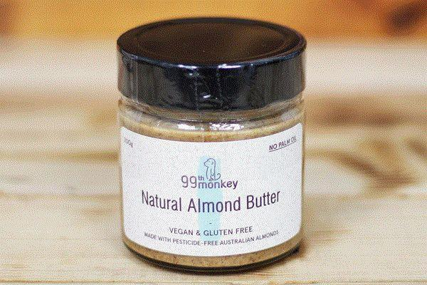 99th Monkey Natural Almond Butter 200g Pantry > Nut Butters, Honey & Jam