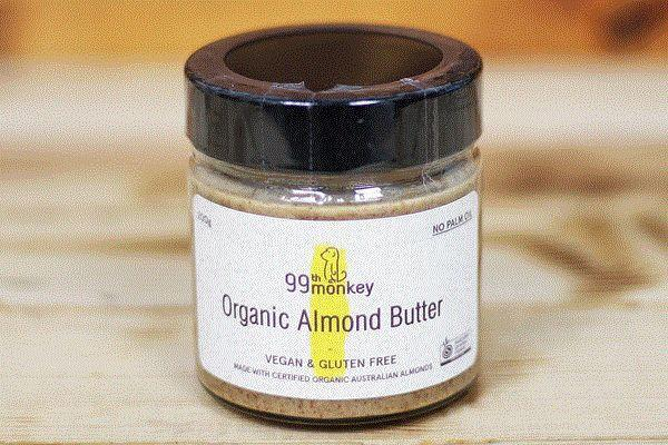 99th Monkey Organic Almond Butter 200g Pantry > Nut Butters, Honey & Jam