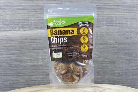 Absolute Organic AO Organic Banana Chips 100g Pantry > Dried Fruit & Nuts