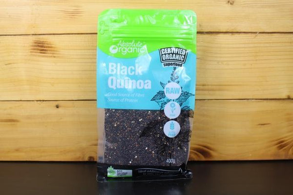 Absolute Organic AO Organic Black Quinoa 400g Pantry > Grains, Rice & Beans