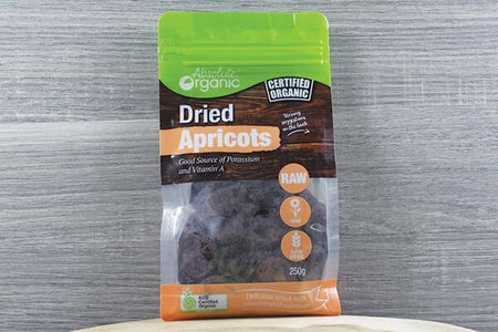 Absolute Organic AO Organic Dried Apricots 250g Pantry > Dried Fruit & Nuts