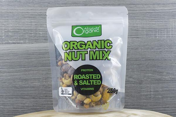 Absolute Organic AO Organic Roasted & Salted Nut Mix 250g Pantry > Dried Fruit & Nuts