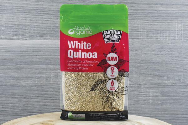 Absolute Organic AO Organic White Quinoa 400g Pantry > Grains, Rice & Beans