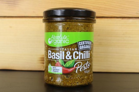 Absolute Organic AO Pesto Basil Chilli 190g Pantry > Pasta, Sauces & Noodles