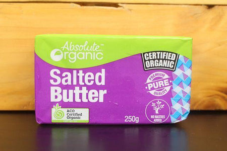 Absolute Organic AO Salted Butter 250g Dairy & Eggs > Butter