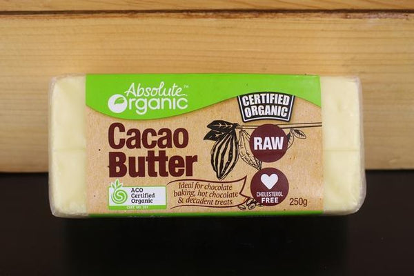 Absolute Organic Cacao Butter Raw 250g Pantry > Baking & Cooking Ingredients