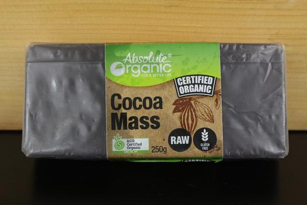 Absolute Organic Cocoa Mass Raw 250g Pantry > Baking & Cooking Ingredients