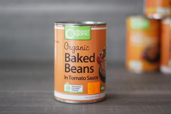 Absolute Organic Organic Baked Beans in Tomato Sauce 400g Pantry > Canned Goods