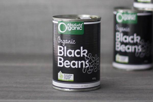 Absolute Organic Organic Black Beans 400g Pantry > Canned Goods