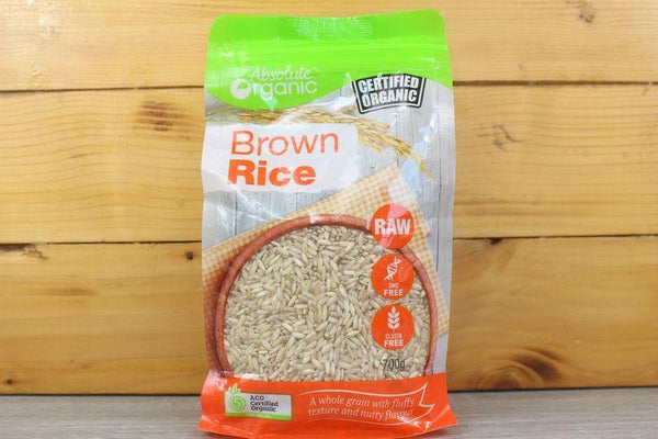 Absolute Organic Organic Brown Rice 700g Pantry > Grains, Rice & Beans