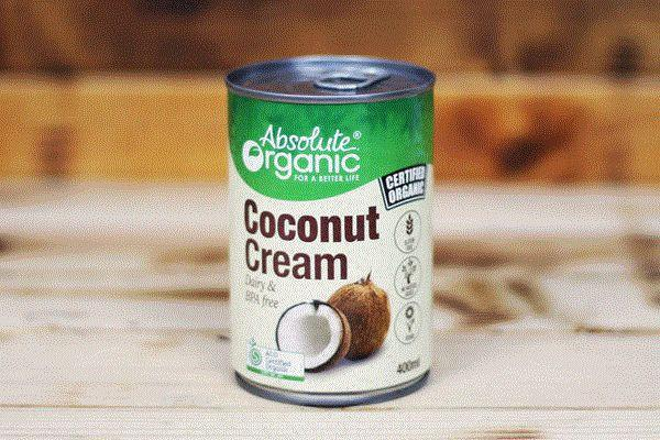 Absolute Organic Organic Coconut Cream 400ml Pantry > Baking & Cooking Ingredients
