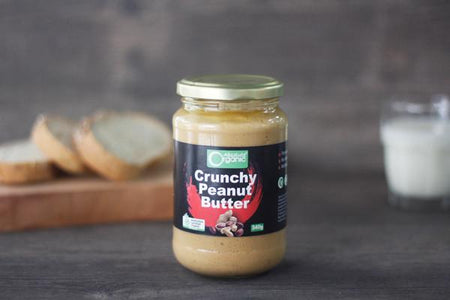 Absolute Organic Organic Crunchy Peanut Butter 340g Pantry > Nut Butters, Honey & Jam