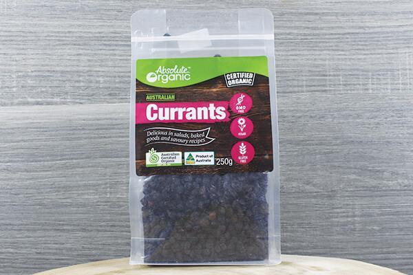 Absolute Organic Organic Dried Currants 250g Pantry > Dried Fruit & Nuts